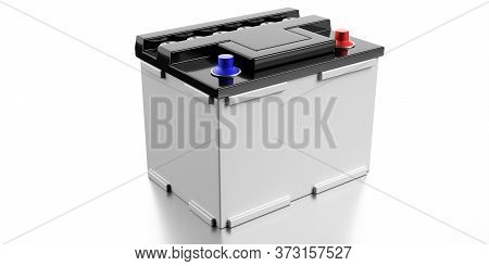Car Battery Isolated On White Background. 3D Illustration