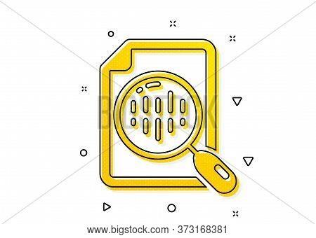 Analytics Graph Sign. Diagram Chart Icon. Market Analytics Symbol. Yellow Circles Pattern. Classic A