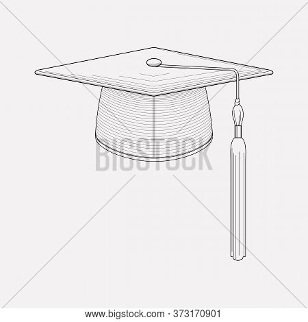 Graduation Hat Icon Line Element. Vector Illustration Of Graduation Hat Icon Line Isolated On Clean