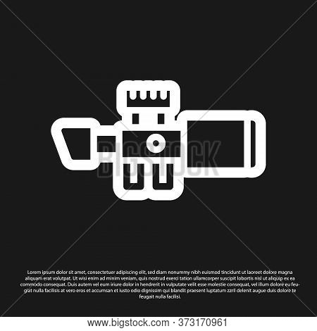 Black Sniper Optical Sight Icon Isolated On Black Background. Sniper Scope Crosshairs. Vector