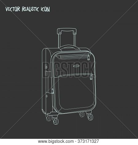 Suitcase On Trolley Icon Line Element. Vector Illustration Of Suitcase On Trolley Icon Line Isolated