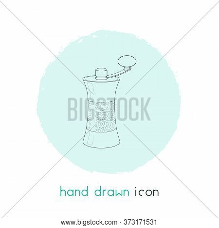 Pepper Mill Icon Line Element. Vector Illustration Of Pepper Mill Icon Line Isolated On Clean Backgr