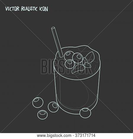 Smoothie Icon Line Element. Vector Illustration Of Smoothie Icon Line Isolated On Clean Background F
