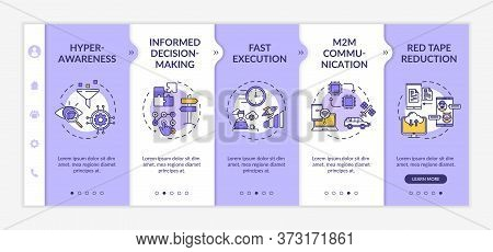 Digital Business Agility Strategy Onboarding Vector Template. Hyper Awareness. Fast Execution. Respo