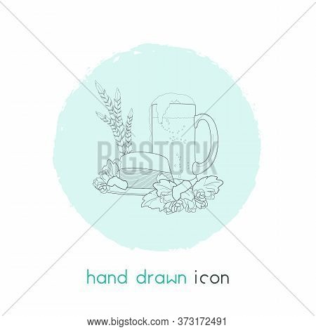 Oktoberfest Icon Line Element. Illustration Of Oktoberfest Icon Line Isolated On Clean Background Fo