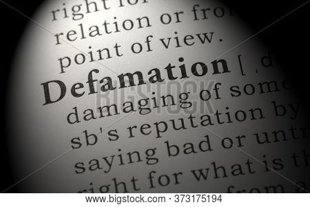 Fake Dictionary, Dictionary Definition Of Word Defamation.