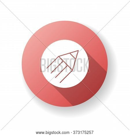 Content Writing Red Flat Design Long Shadow Glyph Icon. Online Workshop For Journalist. Internet Blo