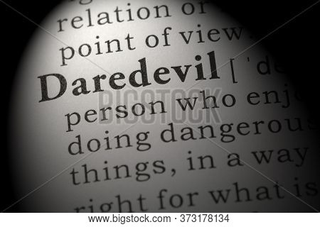 Fake Dictionary, Dictionary Definition Of Word Daredevil.