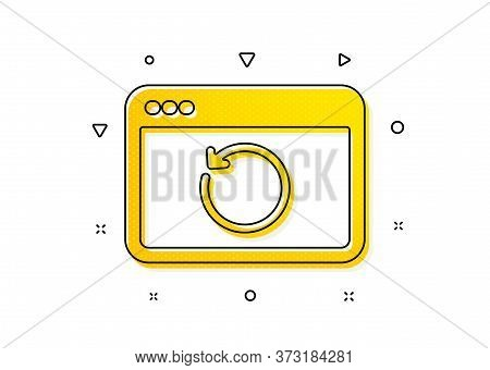 Backup Data Sign. Recovery Internet Icon. Restore Information Symbol. Yellow Circles Pattern. Classi