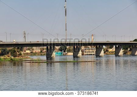 Luxor, Nile River / Egypt - 27 Feb 2017: The Bridge Over Nile River, Egypt