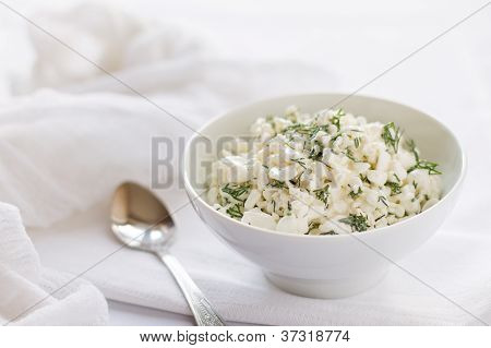 Cottage cheese and dill