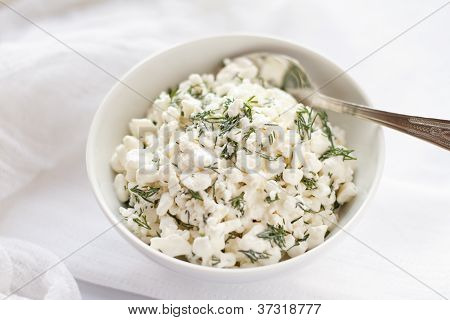 Cottage cheese with dill