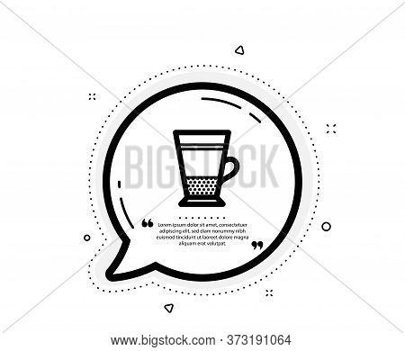 Double Latte Coffee Icon. Quote Speech Bubble. Hot Drink Sign. Beverage Symbol. Quotation Marks. Cla