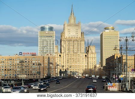 April 13, 2018, Moscow, Russia; View Of The Russian Ministry Of Foreign Affairs Building In Moscow.