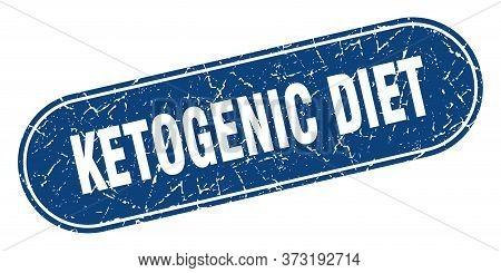 Ketogenic Diet Sign. Ketogenic Diet Grunge Blue Stamp. Label