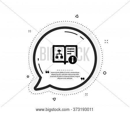 Technical Algorithm Icon. Quote Speech Bubble. Project Documentation Sign. Quotation Marks. Classic