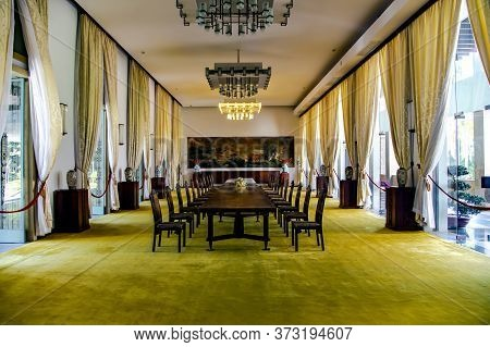 Asia, Vietnam, Hochiminh, November, 15, 2014 - Interior Of Reunification Palace, Also Known As The I