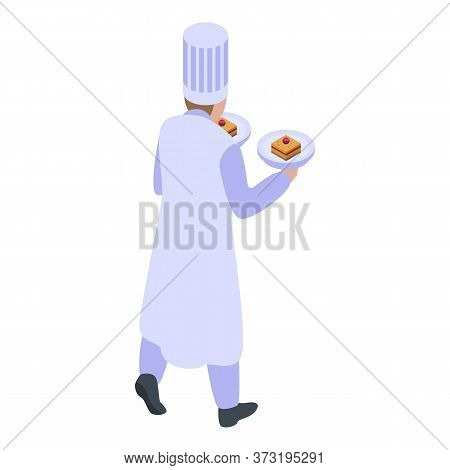 Confectioner Man Icon. Isometric Of Confectioner Man Vector Icon For Web Design Isolated On White Ba