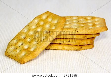 Crackers On A Light Background