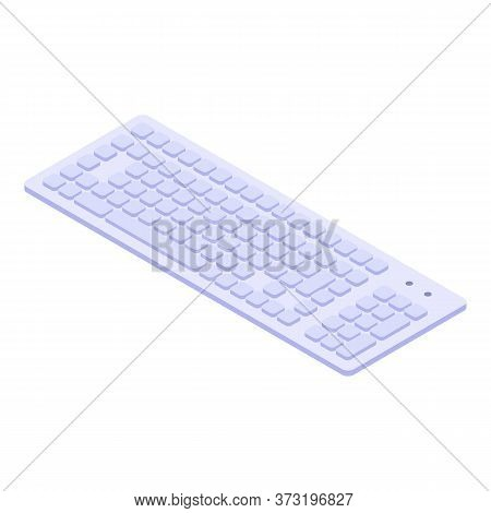 Computer Keyboard Icon. Isometric Of Computer Keyboard Vector Icon For Web Design Isolated On White