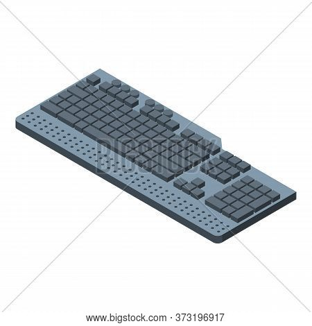 Button Keyboard Icon. Isometric Of Button Keyboard Vector Icon For Web Design Isolated On White Back