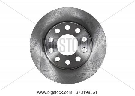 New Brake Disc Top View Isolated On A White Background