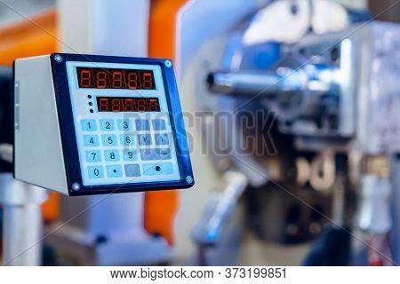 Modern Industrial Plant. Automotive Machine Equipment Parts Close Up