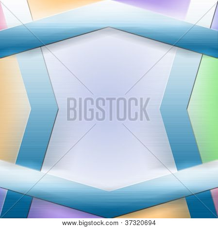 Shapes Design Advertisement Background with Calm and Pleasant Colors poster