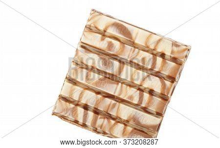 Chisinau, Moldova - April, 26, 2020: Nestle Kitkat Chocolate Bar, Biscuit, Break. Isolated On White