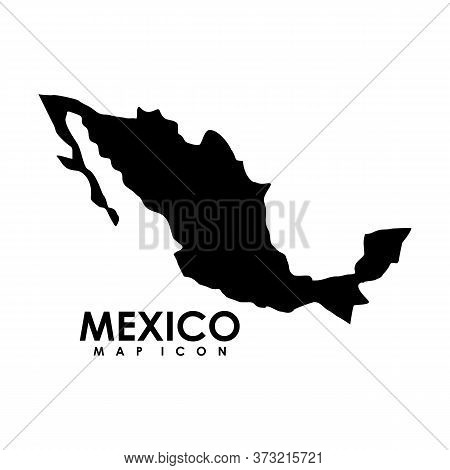 Mexico Map Icon. Simple Illustration Of Mexico Map Vector Icon For Web
