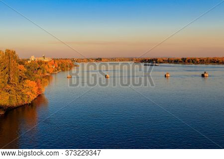 View On The River Dnieper On Autumn