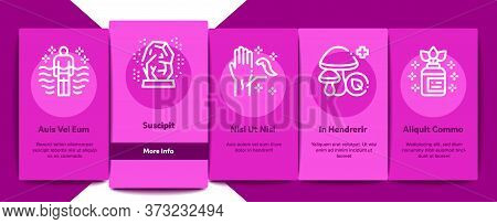Traditional Naturopathy Medicine Onboarding Mobile App Page Screen Vector. Naturopathy Alternative T