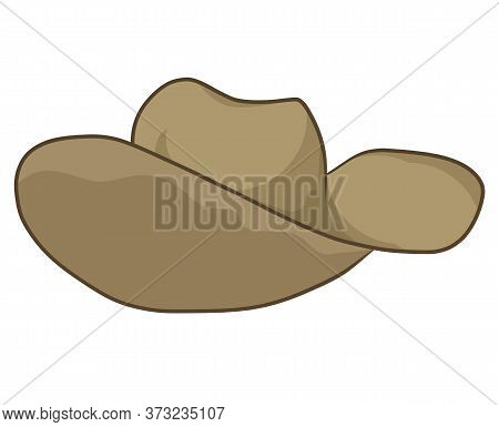 Hat Isolated Illustration On White Background. Vector
