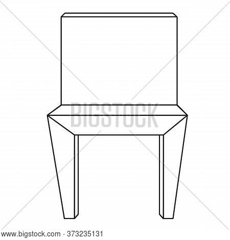 Sketch Line Drawing Of Chair Isolated Illustration On White Background