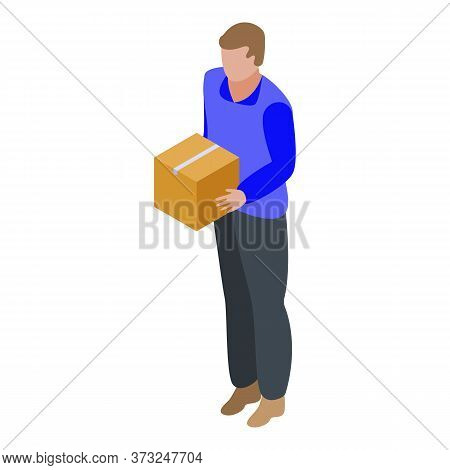 Parcel Delivery Icon. Isometric Of Parcel Delivery Vector Icon For Web Design Isolated On White Back