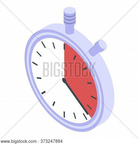 Fast Stopwatch Delivery Icon. Isometric Of Fast Stopwatch Delivery Vector Icon For Web Design Isolat