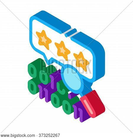Binary Code Research And Assessment Icon Vector. Isometric Binary Code Research And Assessment Sign.