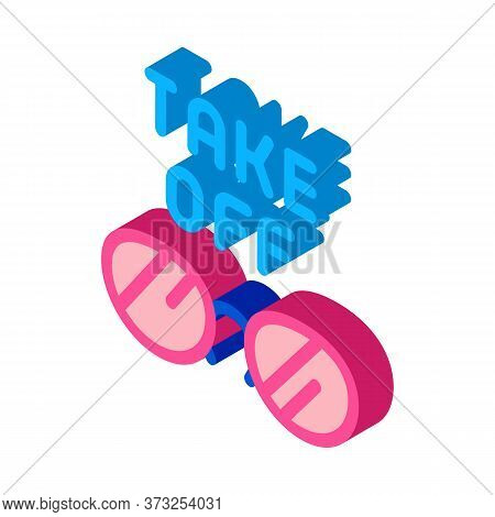 Take Off Glasses Icon Vector. Isometric Take Off Glasses Sign. Color Isolated Symbol Illustration