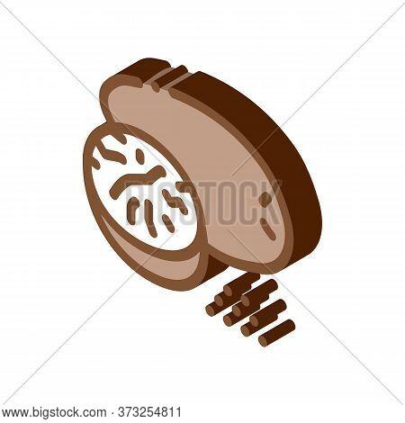 Nutmeg Nut Icon Vector. Isometric Nutmeg Nut Sign. Color Isolated Symbol Illustration