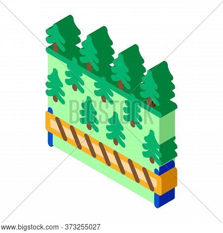 Overlapped Forest Icon Vector. Isometric Overlapped Forest Sign. Color Isolated Symbol Illustration