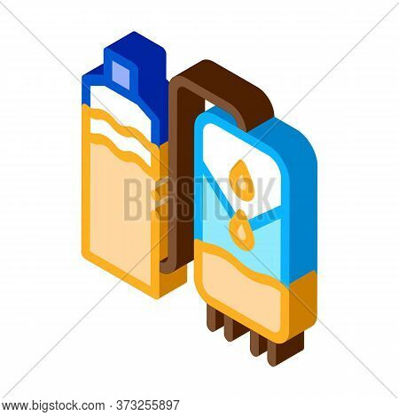 Juice Production Icon Vector. Isometric Juice Production Sign. Color Isolated Symbol Illustration