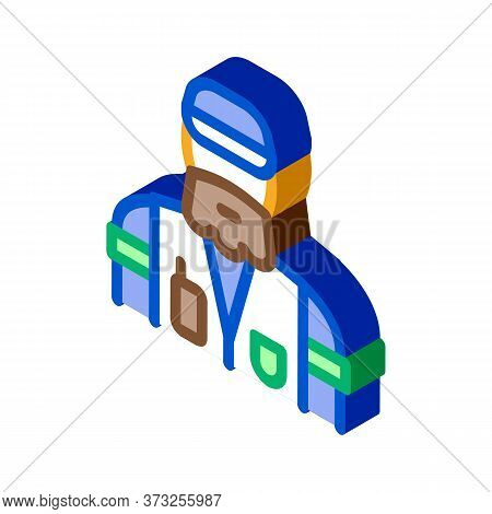 Forester Man Icon Vector. Isometric Forester Man Sign. Color Isolated Symbol Illustration