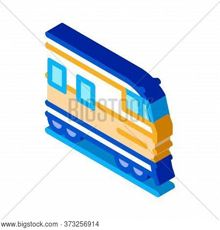 Suburban Electric Train Icon Vector. Isometric Suburban Electric Train Sign. Color Isolated Symbol I