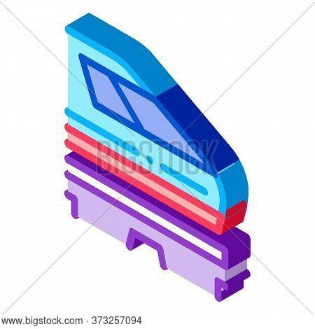 Electromagnetic Train Icon Vector. Isometric Electromagnetic Train Sign. Color Isolated Symbol Illus