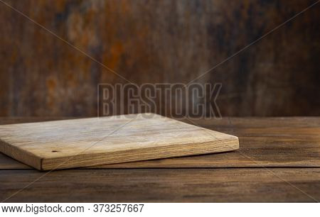 Kitchen Table Empty Cutting Board For Montage Your Object