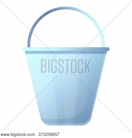 Steel Bucket Icon. Cartoon Of Steel Bucket Vector Icon For Web Design Isolated On White Background
