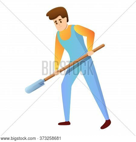 Agronomist Shovel Dig Icon. Cartoon Of Agronomist Shovel Dig Vector Icon For Web Design Isolated On