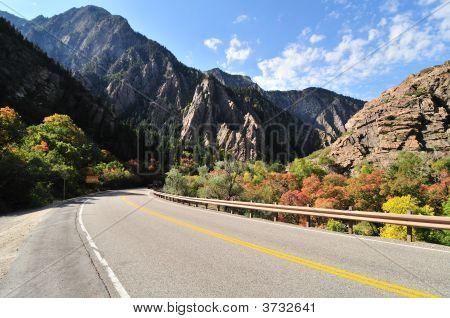 Highway To The Big Cottonwood Canyon