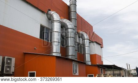 Ventilation Air Duct. Ventilation Pipes. Ventilation System Of The Store.