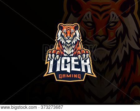 Tiger Mascot Sport Logo Design. Tiger Animal Mascot Vector Illustration Logo. Wild Beast Tiger Masco